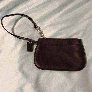 Coach leather wristlet like new